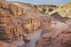 Red canyon in mountains of Eilat Stock Photography