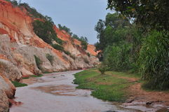 Red canyon Mui Ne in the evening stock photo