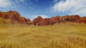 Red canyon rocks at daytime Stock Photos