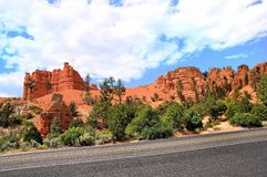 Red canyon route Royalty Free Stock Photo
