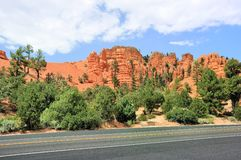 Red canyon route Stock Photo