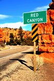Red Canyon Sign Royalty Free Stock Photography