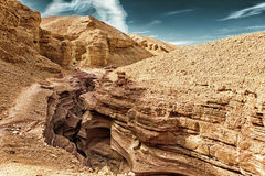 The Red Canyon tourist attraction in the Eilat Mountains, Israel Royalty Free Stock Images
