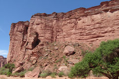 Red Canyon wall Stock Images