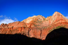 Red Canyons Trees and Cliffs Royalty Free Stock Photos