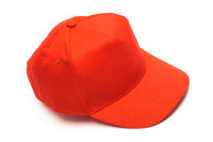 Red cap for baseball Royalty Free Stock Images