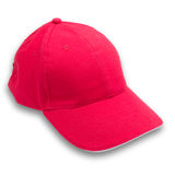 Red cap on isolated background Stock Photography