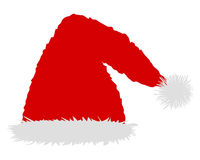 Red cap of Santa Claus Stock Images