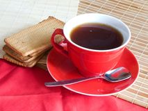 Red cap of tea Royalty Free Stock Image