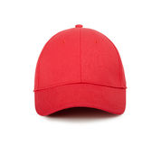 Red cap. On a white background Royalty Free Stock Photo