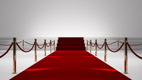 Red capet Stock Photo