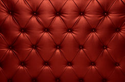 Red capitone checkered coach leather decoration Royalty Free Stock Photos