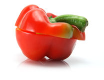 Red Capsicum Royalty Free Stock Photography