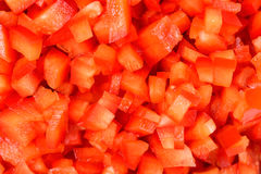 Red Capsicum Pieces Stock Photography