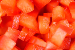 Red Capsicum Pieces Royalty Free Stock Photography