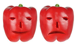 Red Capsicums Stock Images