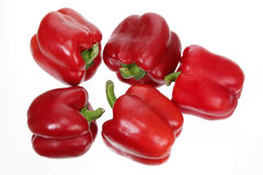 Red Capsicums Stock Photography