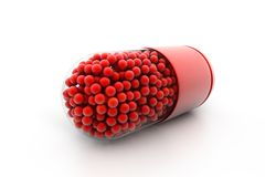 Red Capsule Royalty Free Stock Image