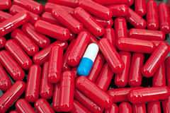 Red capsules Stock Photography