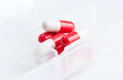 Red capsules Royalty Free Stock Photography
