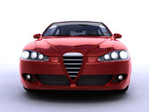 Red car. Red sport car  B class front view Royalty Free Stock Images