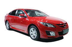 Red car. Red mazda 6  car, Road to Chinas West - 13th Chengdu Motor Show, September 18th-24th, 2010 Royalty Free Stock Images