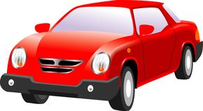 Free Red Car Royalty Free Stock Photo - 18413925
