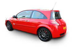 Red car. Red sports car with clipping path Royalty Free Stock Images