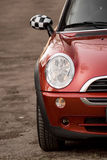 Red car. Photo of red car, in the nature Royalty Free Stock Photos