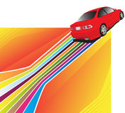 Red car. On the colorful background Stock Photo