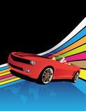 Red car. On the abstract background Stock Images