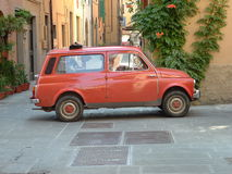 Red car. In Florence, Italy stock photo