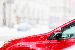 Red Car Stock Photography
