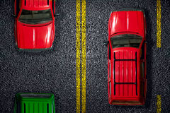 The red car on asphalt Royalty Free Stock Image