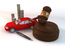 Red Car Assets Auction Perspective Royalty Free Stock Image