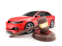 Red car and auction Stock Photos