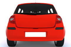 Red car back Royalty Free Stock Image