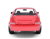 Red car. Back view Royalty Free Stock Images
