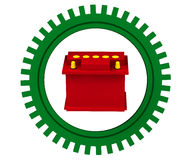 Red car battery Royalty Free Stock Photo