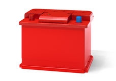 Red car battery Stock Images