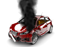 Red car burn Royalty Free Stock Photography