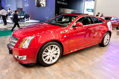 Red car Cadillac CTS Royalty Free Stock Photo