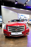 Red car Cadillac CTS Stock Image