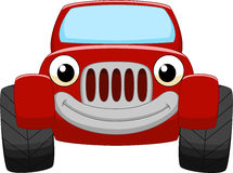 Red car cartoon. Illustration of Red car cartoon Royalty Free Stock Images