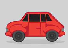 Red Car Cartoon Vector Illustration Royalty Free Stock Photo