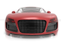 Red car chassis front view Stock Photo