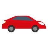 Red car city scene image design Stock Photo