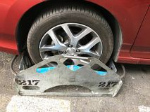 Clamped Car in the street Stock Photography