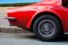 Red car. Close up of a vintage red car Royalty Free Stock Photography