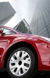 Red car - corporate environment Stock Image